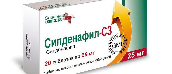 сердечно сосудистые заболевания с силденафилом